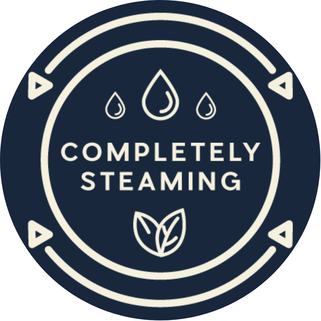 Completely steaming logo